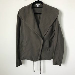 James Perse • twill moto Jacket - army green